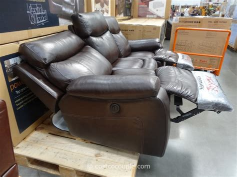 costco leather sofa in store spectra dakoda power motion leather sofa