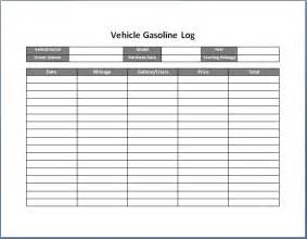 Vehicle Log Sheet Template