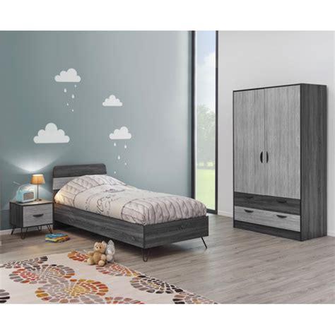 chambre ado complete chambre ado lizo contemporaine complète coloris gris