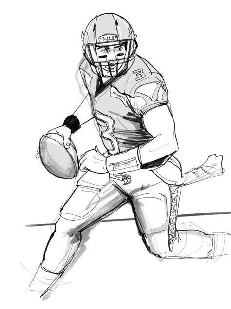 russell wilson football coloring pages