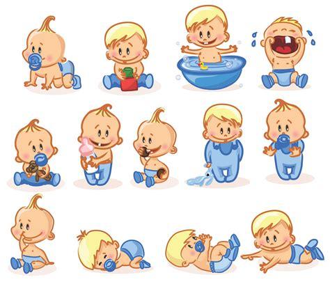 cartoon baby children kids people  vector