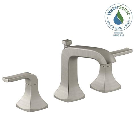Kohler Brushed Nickel Kitchen Faucet by Kohler Rubicon 8 In Widespread 2 Handle Bathroom Faucet