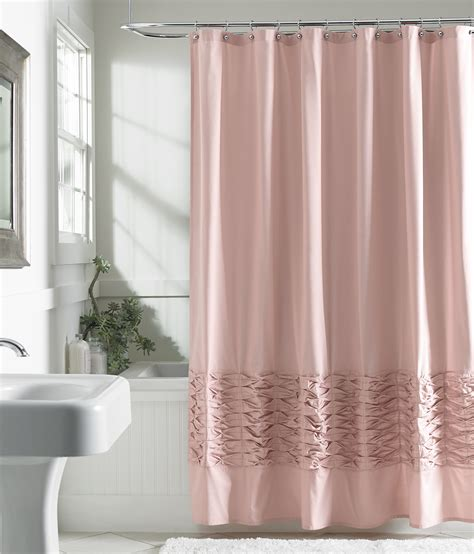 attention fabric shower curtain blush home bed
