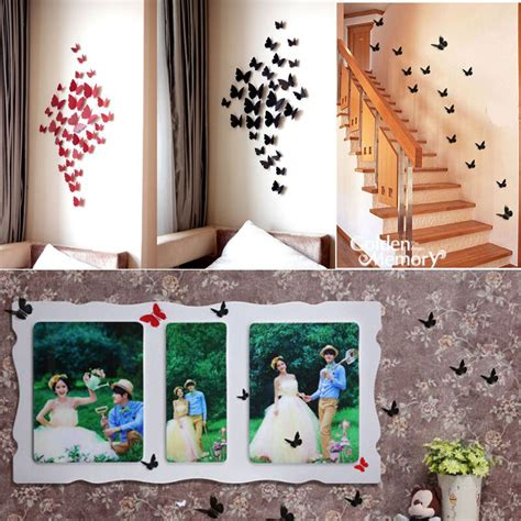 diy removable butterfly  wall sticker butterfly home