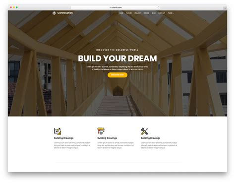 Construction Template 25 Best Free Construction Website Templates For Modern