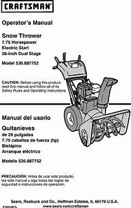 Craftsman 536887752 User Manual Snowthrower  Gas Manuals