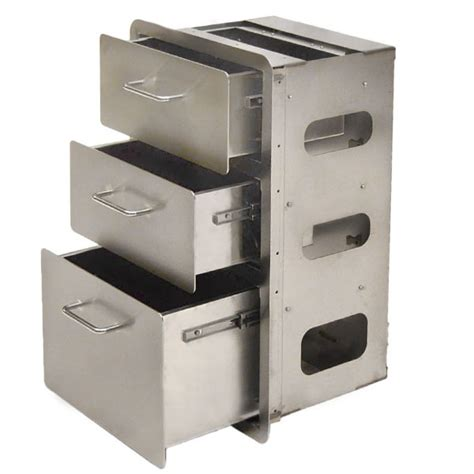 metal drawers for kitchen cabinets custom yachts gf 4 kitchen stainless steel boat 3 drawer 9146