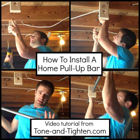Installing A Bar In Basement by How To Install A Home Pull Up Bar Tone And Tighten