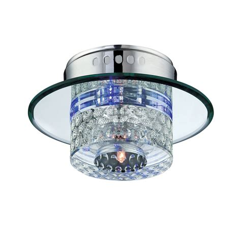 lowes ceiling ls shop lite source quotom 7 in w clear flush mount light at