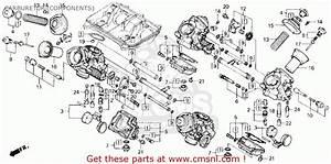 Honda Vfr750r Rc30 Usa Carburetor  Components
