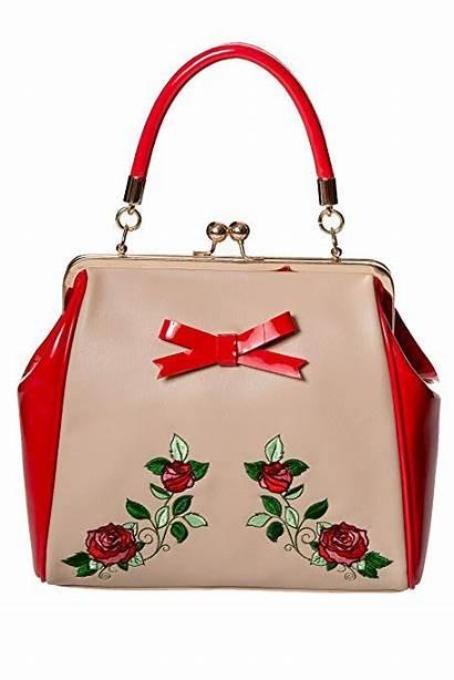 Sac Beige Pinup Rouge Handbags Evening Purses