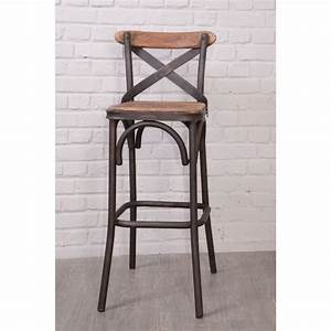 Chaise De Bar Bois : chaise de bar loft 39 nola 39 casita achat vente tabouret ~ Dailycaller-alerts.com Idées de Décoration