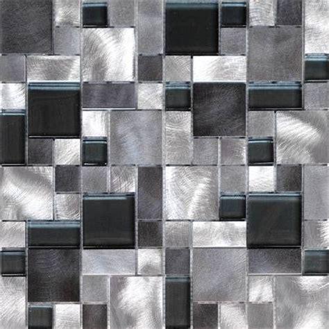 ideas for backsplash for kitchen 1sf black gray pattern aluminum stainless mosaic tile