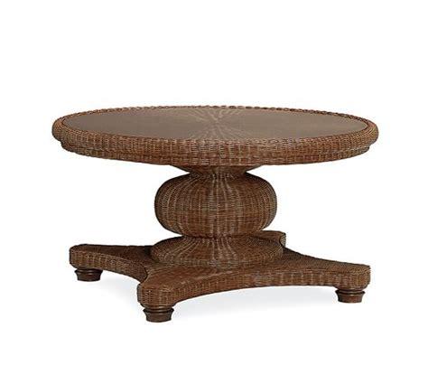 round pedestal coffee table palmetto all weather wicker round pedestal coffee table
