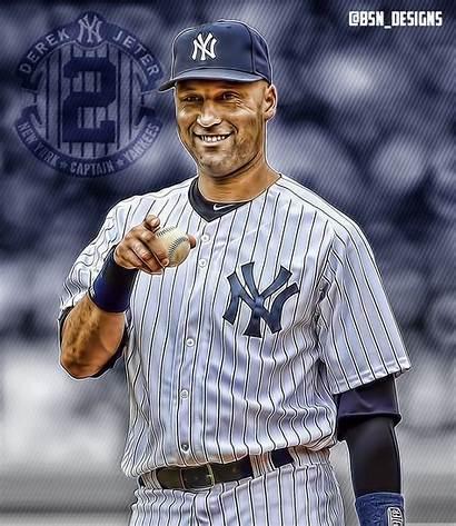 Jeter Derek Wallpapers Yankees Edit Wallpapersafari York