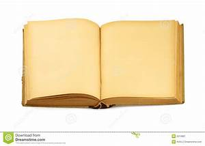 Open Old Blank Book On White Stock Image - Image: 2013881