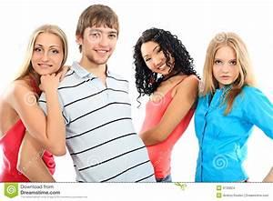 Four friends stock photo. Image of cute, boyfriend, female ...
