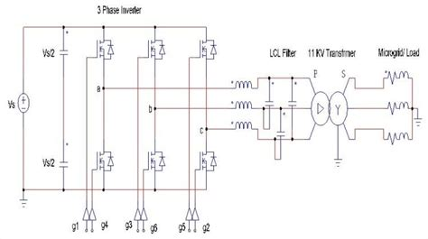 Circuit Diagram Three Phase Inverter With Transformer