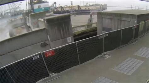 Surveillance footage shows pier collapse in Seattle ...