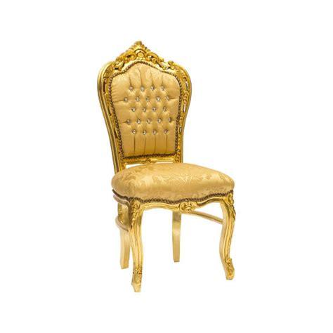 Sedia Barocca Sedia Barocco In Legno E Tessuto Color Oro Cm 60x52x110h