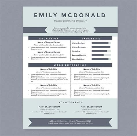 12147 creative resume template word the world s catalog of ideas