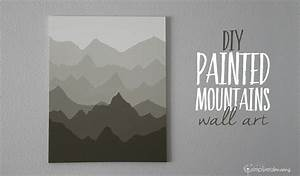 Simply Made: Painted Mountains Wall Art - Simply Real Moms
