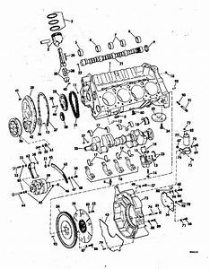 Omc Stern Drive Crankcase Group 454 Parts For 1981 454hp