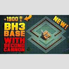 Best Builder Hall 3 Base W 2 Cannons!  New Coc Bh3 Anti 2 Star Builder Base!!  Clash Of Clans