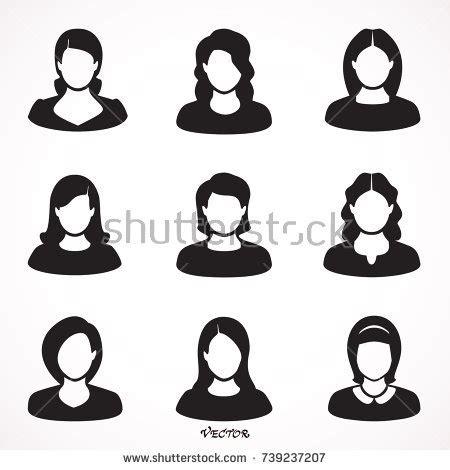 twenty avatar profile icon set including stock vector