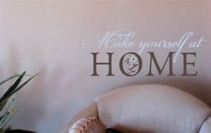 Make Yourself At Home : make yourself at home beautiful wall decals ~ Eleganceandgraceweddings.com Haus und Dekorationen