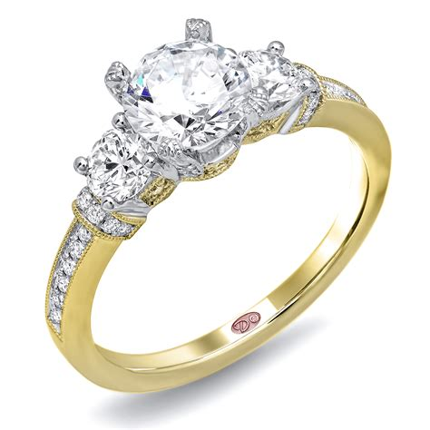 unique engagement rings dw6137