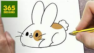 Lapin Facile A Dessiner : comment dessiner lapin kawaii tape par tape dessins ~ Carolinahurricanesstore.com Idées de Décoration