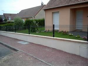 Muret De Cloture : cloture sur muret pas cher ~ Melissatoandfro.com Idées de Décoration