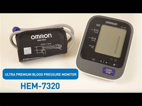 OMRON Upper Arm Blood Pressure Monitor HEM-7320 - YouTube