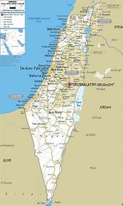 Detailed Clear Large Road Map Of Israel