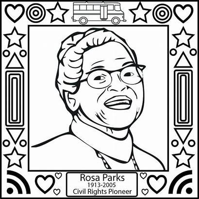 Coloring History Month Pages Rosa Parks Oprah