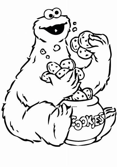 Coloring Monster Cookie Pages Funny Printable Drawing