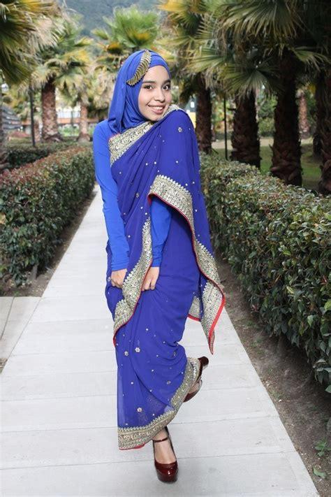 saree styles  muslims stylish hijab  saree ideas