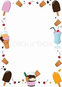 Ice Cream Frame | Stock Vector | Colourbox