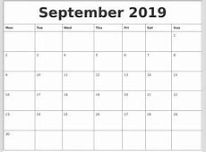 september 2019 calendar calendar weekly printable
