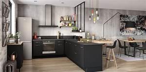 Cuisine Équipée Noir : cuisines quip es noires chez socoo 39 c conseils et astuces ~ Melissatoandfro.com Idées de Décoration