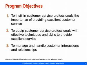 Customer Objectives Examples Customer Service Training Material Powerpoint
