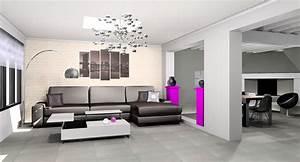Deco Salon Moderne : idee deco salon appartement ~ Teatrodelosmanantiales.com Idées de Décoration