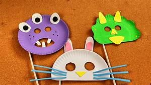 Cómo Hacer Máscaras para Niños con Platos Desechables Manualidades para Niños SuperDivertido