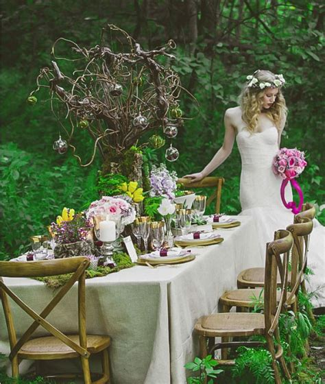 picture  dreamy woodland wedding table decor ideas