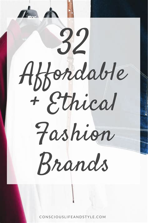 affordable ethical fashion brands   conscious
