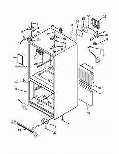 Cabinet Parts Diagram  U0026 Parts List For Model Kbfs20ecms00