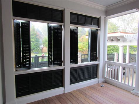exterior shutters and porch style patio other