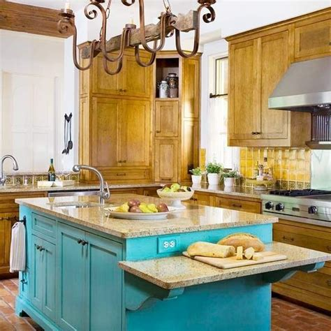 turquoise kitchen island different color kitchen island home home