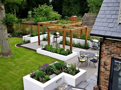 London Raised Flower Beds Patio Contemporary With Outdoor